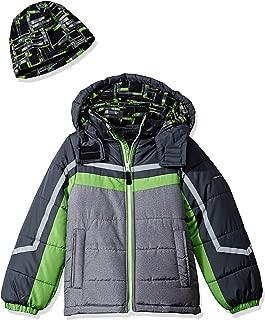 Boys' Active Heavyweight Jacket with Ski Cap