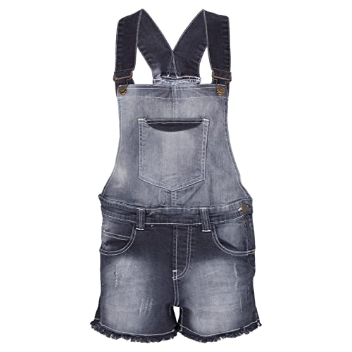 70bb46add7 Noroze Womens Floral Denim Dungaree Jean Cotton Playsuit
