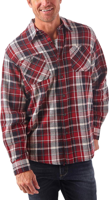 Wrangler Authentics camisa de franela de manga larga para hombre