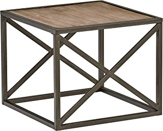 Stone & Beam Roland X-Frame Side End Table, 24