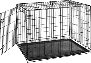 AmazonBasics Single-Door & Double-Door Folding Metal Dog Crate