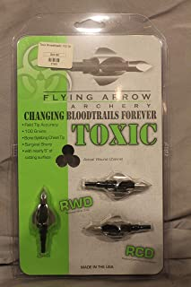 Flying Arrow Archery Toxic Broadheads, 100 Grain, 3 Pack