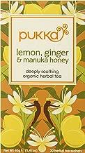 Pukka Organic Tea, Lemon, ginger and Manuka Honey, 20 Count (Pack of 6)