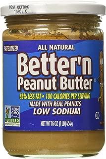 Better N Peanut Butter Peanut Spread Low Sodium Low Fat, 16 oz
