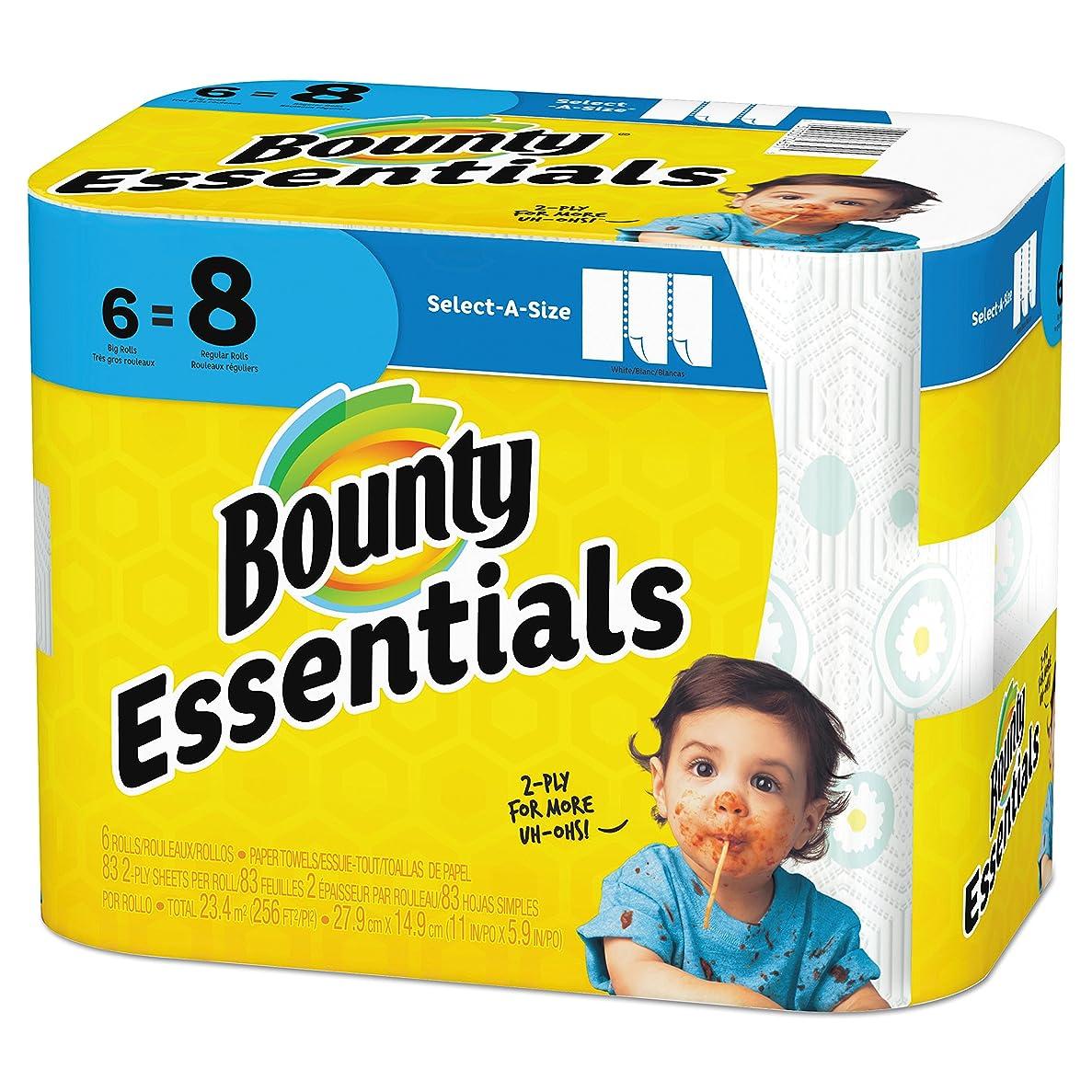 保守可能叱る空中Bounty Basic Select-a-Size Paper Towels, 5 9/10 x 11, 1-Ply, 95/Roll, 6 Roll/Pack by Bounty
