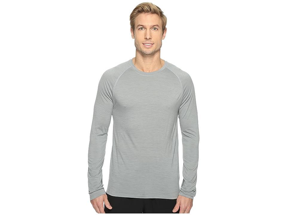 Smartwool Merino 150 Baselayer Pattern Long Sleeve (Light Gray) Men