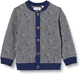 Sanetta Fiftseven Sweatjacke Dark Grey Mel. Sweat-Shirt Chic Gris mélangé Fiftyseven avec Un imprimé perlé intégral Bébé F...