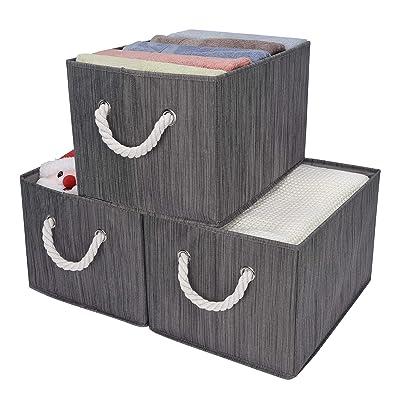 StorageWorks Decorative Storage Bins with Cotto...