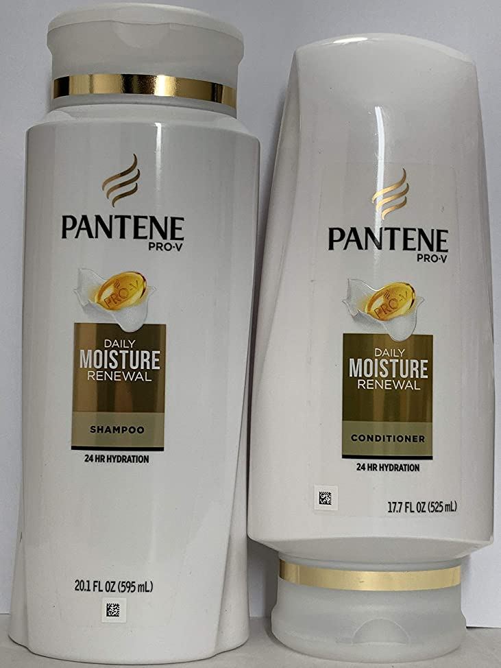Pantene Pro-V Haircare - Daily Moisture Renewal - Dreamcare Shampoo (20.1 FL OZ) & Conditioner (17.7 FL OZ) Set - One Set