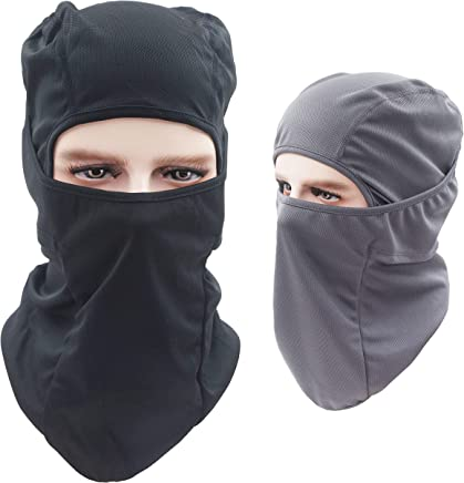 2 Packs Multi-Purpose Thin Breathable Winter Cold Weather Motorcycle Bike Bicycle Helmet Cycling for Youth Adult Women Ladies Men Army Green Dseap Balaclava Hood//Skiing Face Mask Navy Blue
