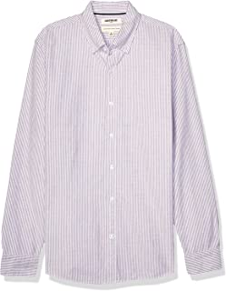 Goodthreads Standard-Fit Long-Sleeve Striped Oxford Shirt Uomo