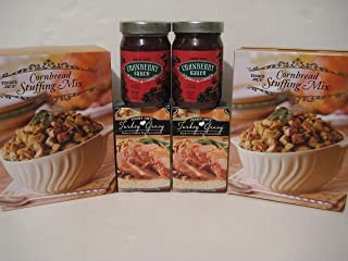 Trader Joe's Thanksgiving Bundle, 2- Cornbread Stuffing Mix, 2- Cranberry Sauce, 2- Turkey Gravy!. Enjoy!