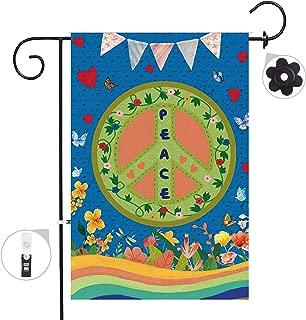 Bonsai Tree Peace World Seasonal Burlap Garden Flag Banner Decorative Outdoor Double Sided Yard Flag 12 x 18 Prime