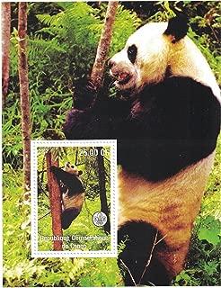 Timbres pour collectionneurs/ /Perforfated Stamp Sheet avec pandas//Mother Panda avec Lionceau//Panda descalade /à arbres//R/épublique d/émocratique du Congo
