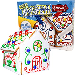 Hanukkah Do-It-Yourself Frosted Hanukkah House Cookie Decorating Kit, Includes Red, Blue, White Icing and Chocolate Flavored Gems, OU-D