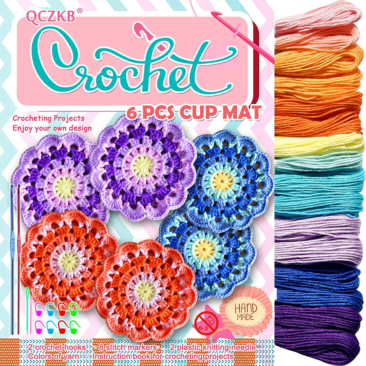 Crochet Kits 16 Cotton Size 3 Ultra-Cheap Deals Cash special price 2 Includes Skeins Yarn Cr