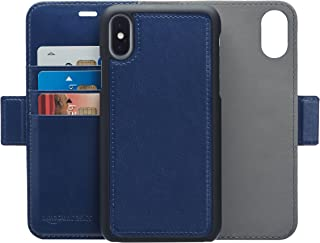 Amazon Basics PU Leather Wallet Detachable Case 8, navy