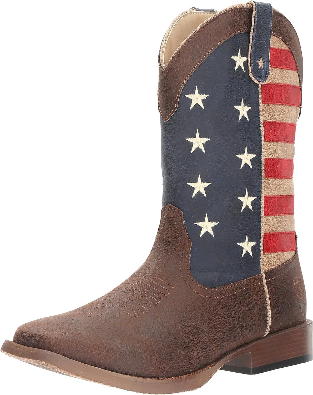 Roper Men's American Patriot Boot, Brown, 7 D US