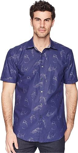 BUGATCHI - Shaped Fit Shark Woven Shirt