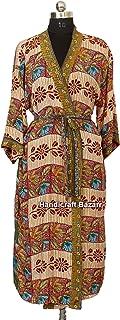 iinfinize India Cotton Handmade Hand Block Printed Party Wear Dress India Cotton Caftan Swim Bathing Suit Beach Dress Cott...