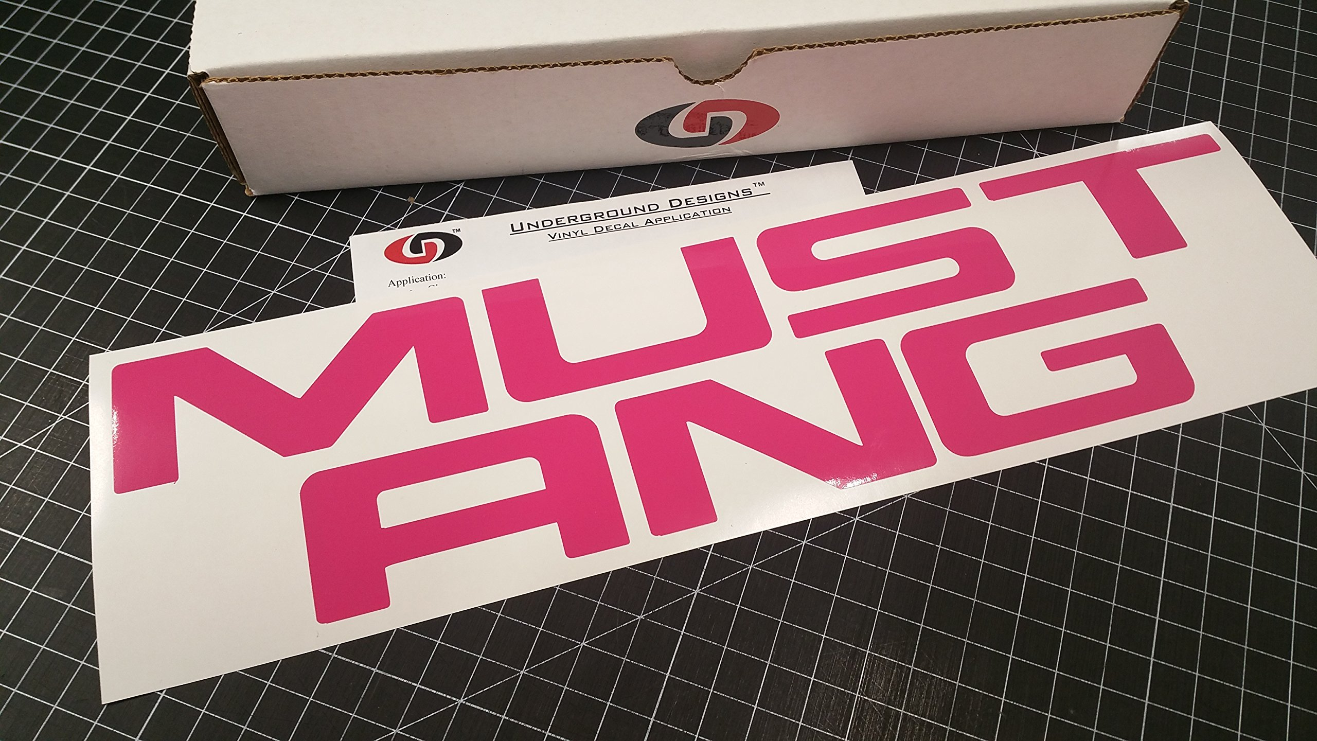 2004 Ford Mustang Rear Bumper Decal Letters PINK