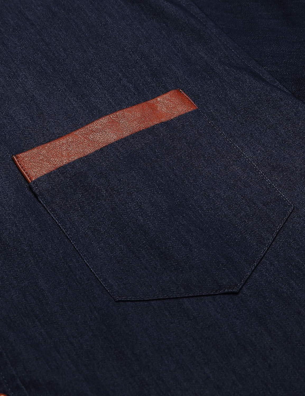 COOFANDY Mens Casual Dress Shirt Button Down Shirts Long-Sleeve Denim Work Shirt