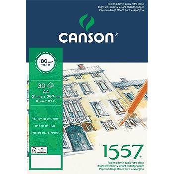 Canson Ja 1557 30 Hojas A2 Grano Fino 180G Bloc Encolado