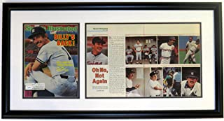 Billy Martin Signed 1985 Sports Illustrated Photo Compilation - JSA COA Authenticated - Professionally Framed 32x16
