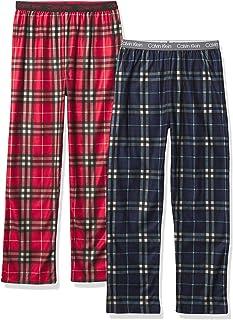 Calvin Klein Boys Sleepwear Super Soft Brushed Micro Pajama Pant, 2 Pack