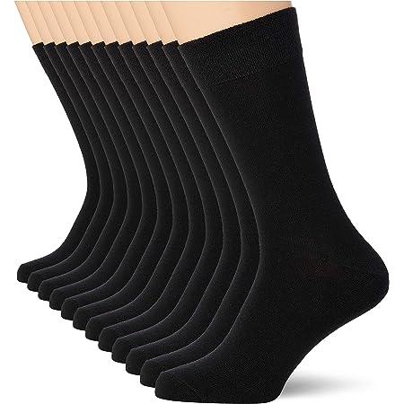 FM London (12-Pack) Unisex Super Soft Calf Socks | Anti-Odour, Pre-Shrunk, Elastic Stretch