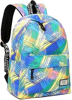VOLINER School Backpack Fits 14 Inch Laptop Backpack Shoulder Bag Bookbag Camping Travel Backpack Polyester Daypack Backpack Blue