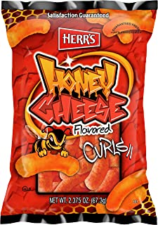 Herr's Honey Cheese Curls, 2.375 Ounce (Pack of 20)