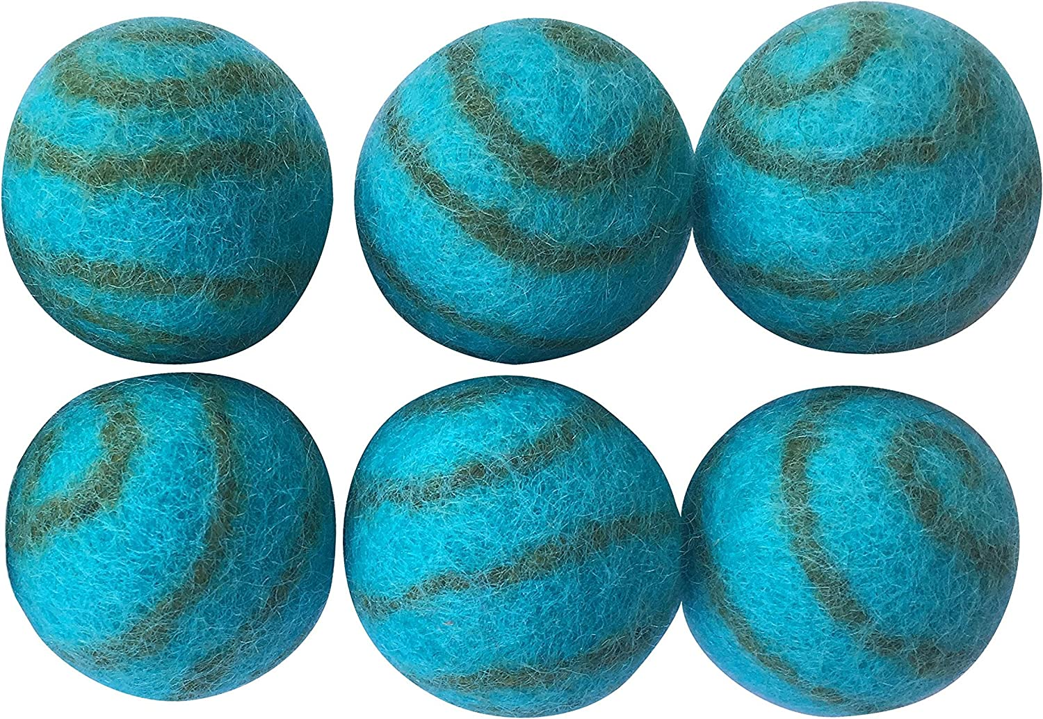 Pet Max 60% OFF Pizazz 100% Fort Worth Mall Wool Cat Ferret Dog Small 6-Pack Toy Ball