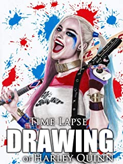Clip: Time Lapse Drawing of Harley Quinn