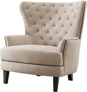 Homelegance Rhett Fabric Wingback Chair, Beige