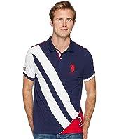 U.S. POLO ASSN. Button-Down Slim Fit Flag Diagonal-88