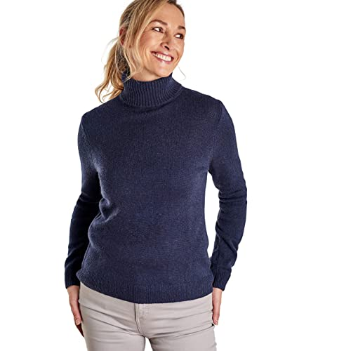 4641799f83658f Woolovers Womens Lambswool Polo Neck Roll Neck Chunky Knitted Long Sleeve  Sweater 6-20