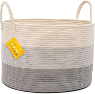 OrganiHaus XXL Cotton Rope Basket   Wide 20