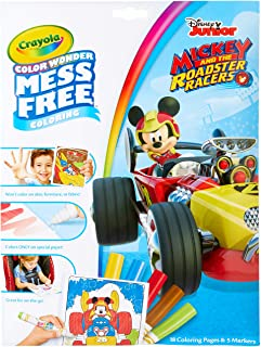 Color Wonder Coloring Pad & Markers, Mickey Mouse Roadster Racers