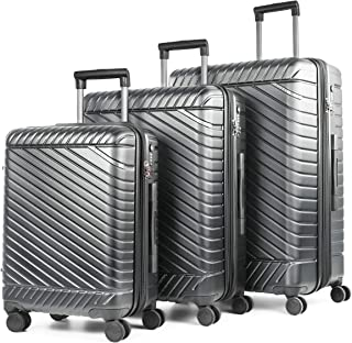Bugatti - Moscow Collection - 3 pcs luggage set with silent Japanese 360° Spinner Wheels. Hardside suitcase made of lightw...