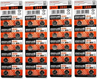 Maxell LR44 (A76) Batteries, 40 Count