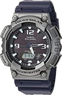 Casio Men's 'Tough Solar' Quartz Resin Casual Watch, Color:Black (Model: AQ-S810W-1A4VCF)