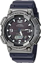 Casio Men's Tough Solar Quartz Watch with Resin Strap, Black, 25 (Model: AQ-S810W-1A4VCF)