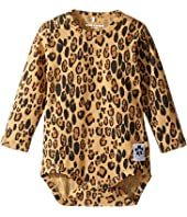mini rodini - Basic Leopard Long Sleeve Bodysuit (Infant)