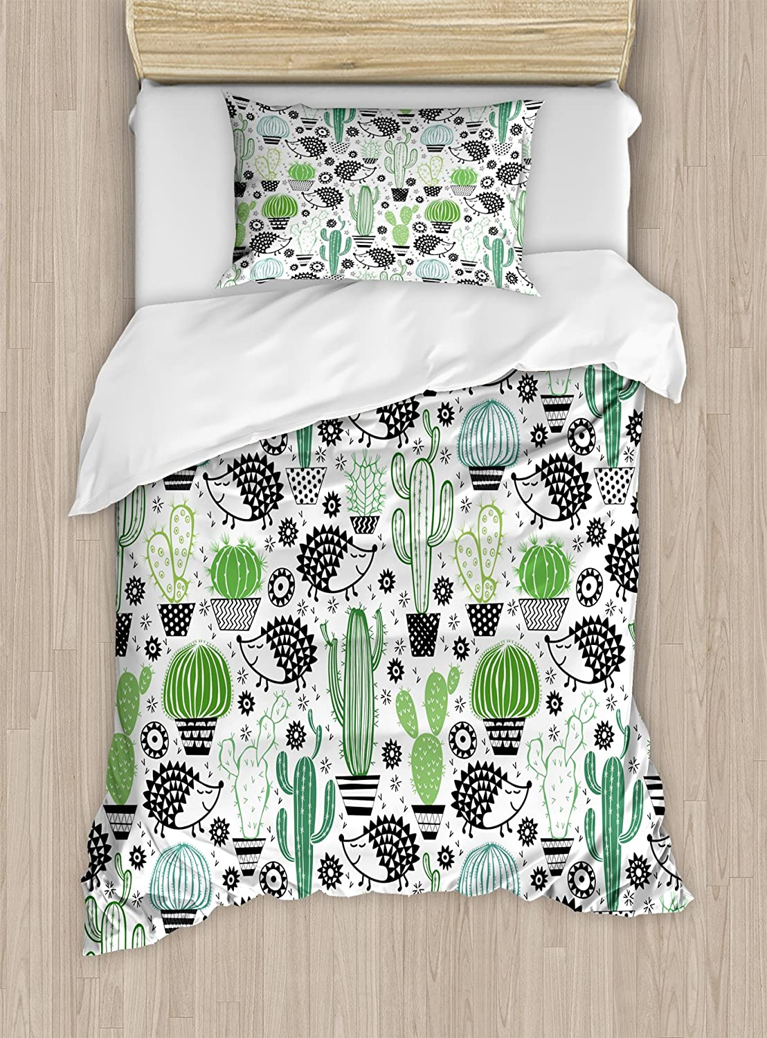Decorative 3 Piece Bedding Set with 2 Pillow Shams Ambesonne Turtle Duvet Cover Set King Size Baby Turtle Swimming in Abstract Waters Serene Nature Picture Coffee Seafoam