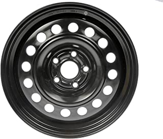 Dorman Black Wheel with Painted Finish (15 x 6. inches /5 x 3 inches, 45 mm Offset)