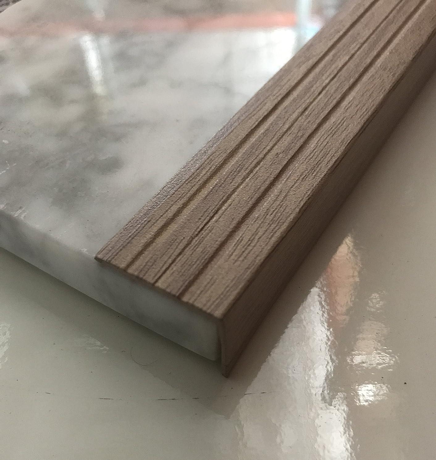 Stair Noses European Anodized Aluminum and Angle Edges Profile (48, Whitened Oak)