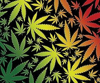 Weed Pot Cannabis Leaf Fleece Throw Blanket 50