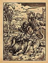 Art Notebook: Samson Fighting the Lion - Albrecht Durer Art College Ruled Notebook | 110 Pages (Albrecht Durer Woodcuts)