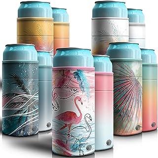 UPSWAVE Slim Can Cooler Sleeves - Premium Reversible Beer Can Sleeves - Slim Can Insulator 5 pack - Adjustable Design Fits...